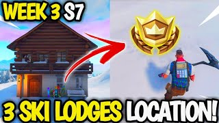 'Search Between Three Ski Lodges' Ski Lodge LOCATION & GUIDE! Fortnite Week 3 Season 7 (FREE Star)