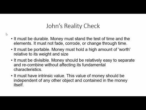 What Is Money? Are Gold and Bitcoin Money?