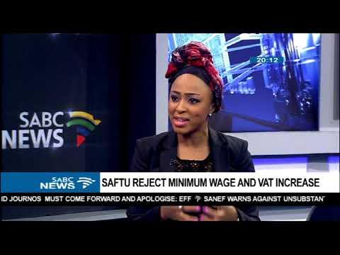 SAFTU rejects minimum wage and VAT increase - Zwelinzima Vavi