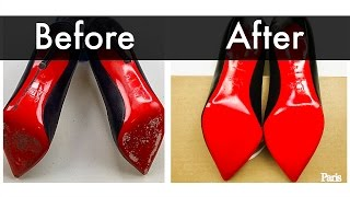 How to Repair Louboutin Red Soles | How to DIY Your Own Red Sole Shoes!
