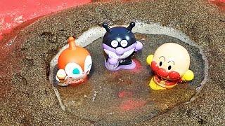 アンパンマンおもちゃアニメ❤砂遊び!温泉でお風呂かな! animekids アニメきっず animation Anpanman Toy thumbnail