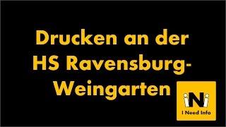 Drucken an der Hochschule Ravensburg-Weingarten