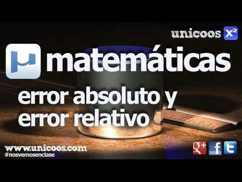 Error absoluto y relativo SECUNDARIA (3ºESO) matematicas