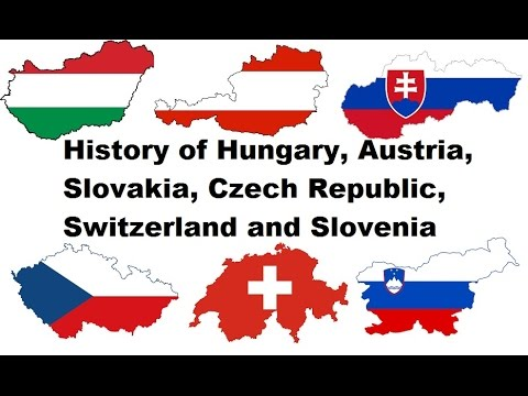 History of Hungary, Austria, Slovakia, Czech Republic, Switzerland and Slovenia (438 BC - 2016)