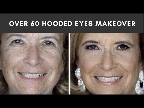 Makeover On My Mom! Over 60! Mature Skin + Hooded Eye Makeup Tutorial
