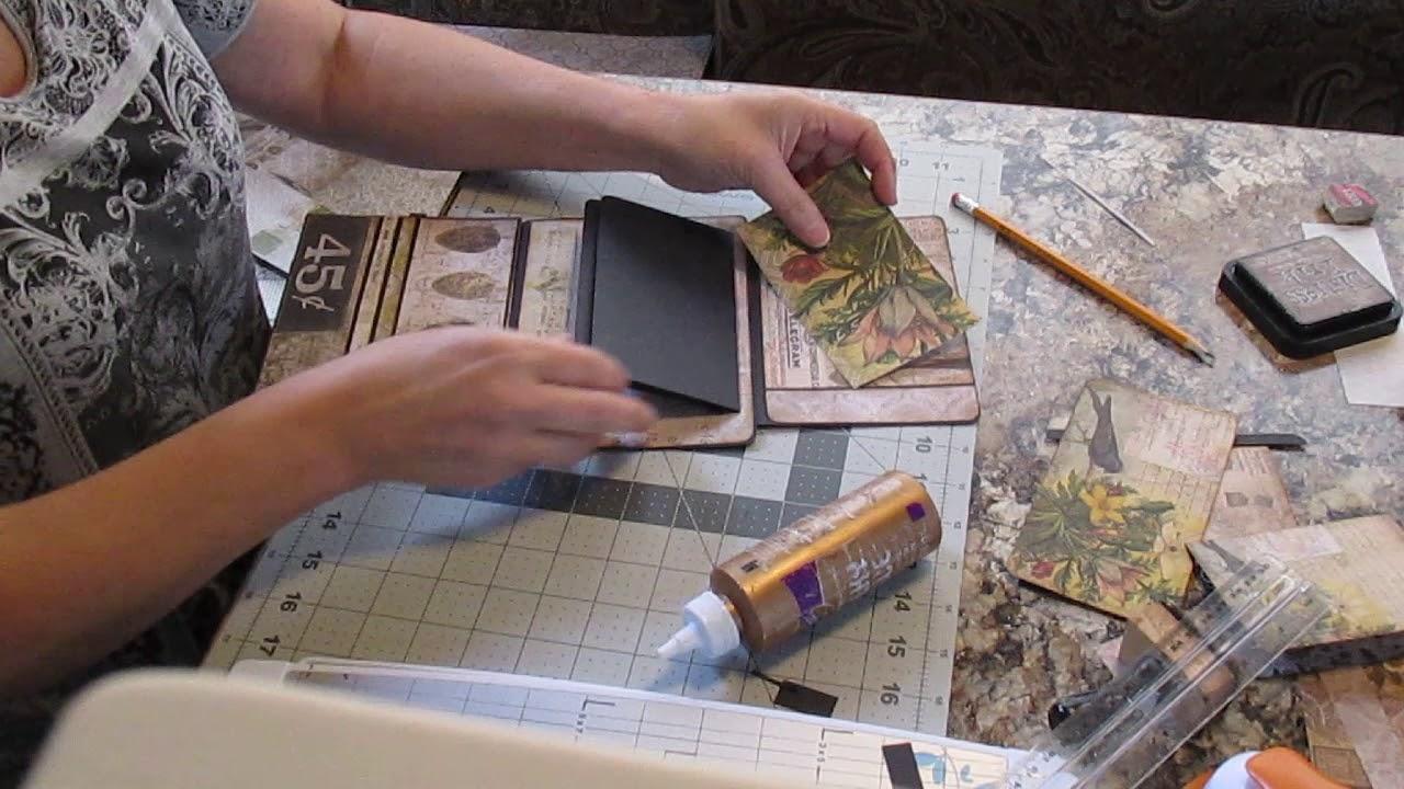 Scrapbooking Wallet Size Mini Flip Album Tutorial 3 Finishing All