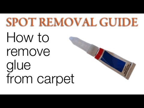 How to get Glue out of Carpet | Spot Removal Guide