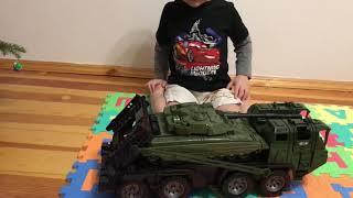 Іграшки, тягач для перевезення танків!