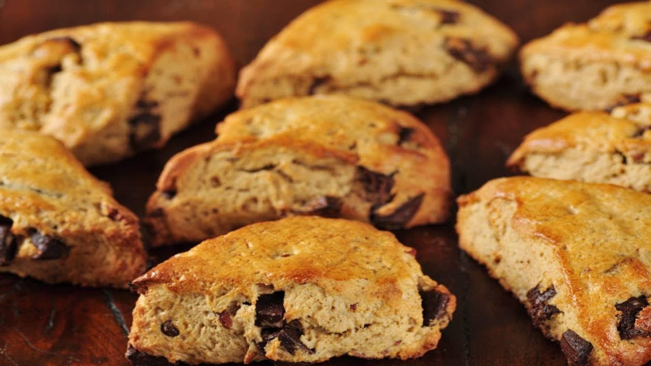 Pecan and Chocolate Scones Recipe & Video