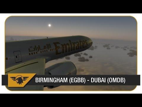 [Prepar3D] PMDG 777-300ER | Emirates | Birmingham (EGBB) - Dubai (OMDB) | UAE38