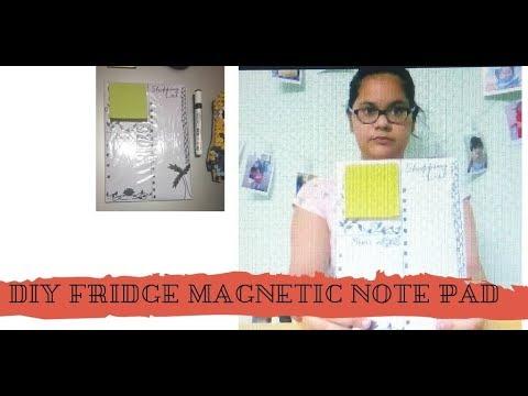 DIY fridge magnet notepad