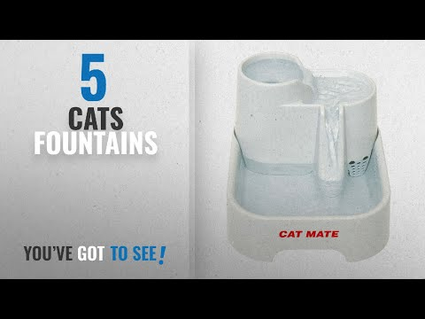 Top 10 Cats Fountains [2018]: Cat Mate Fresh Water Drinking Fountain for Cats and Small Dogs