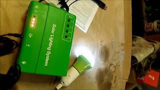 Комплект освещения на солнечной батарее.