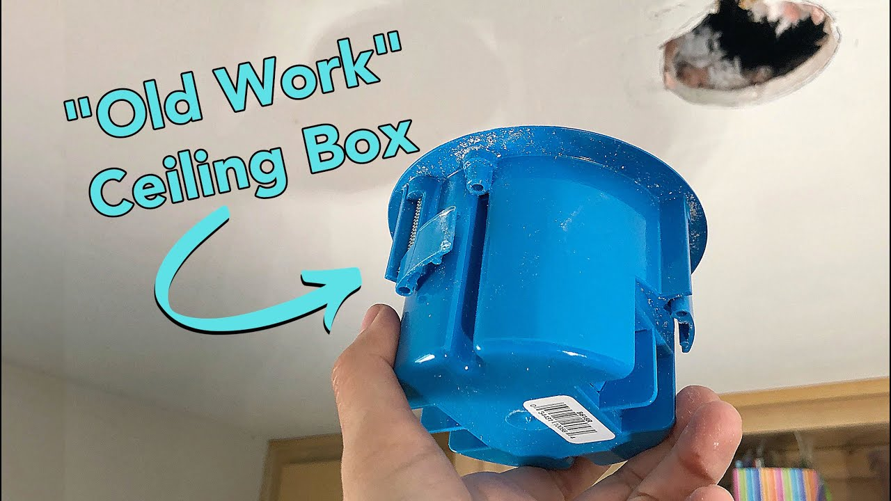 How To Install An Electrical Ceiling Box For A Light Fixture Youtube