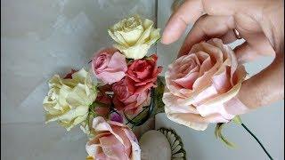 Как я леплю розы из холодного фарфора