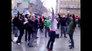 Arsenal fans singing Nanana Giroud in München the 13th of March 2013