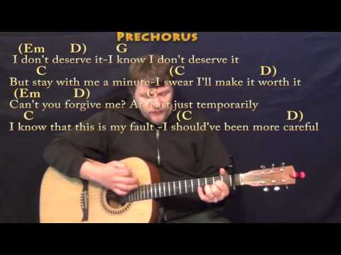 One Last Time (Ariana Grande) Strum Guitar Cover Lesson with Chords/Lyrics - Capo 1st