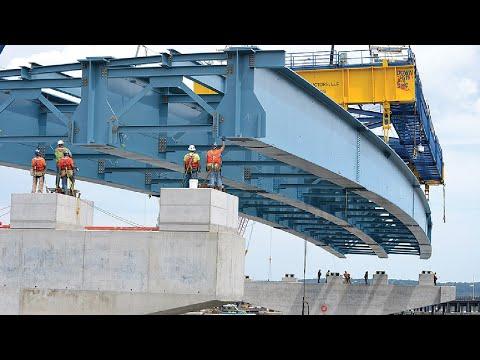This Modern Bridge Construction Method is Very INCREDIBLE, Amazing Construction Equipment Machines