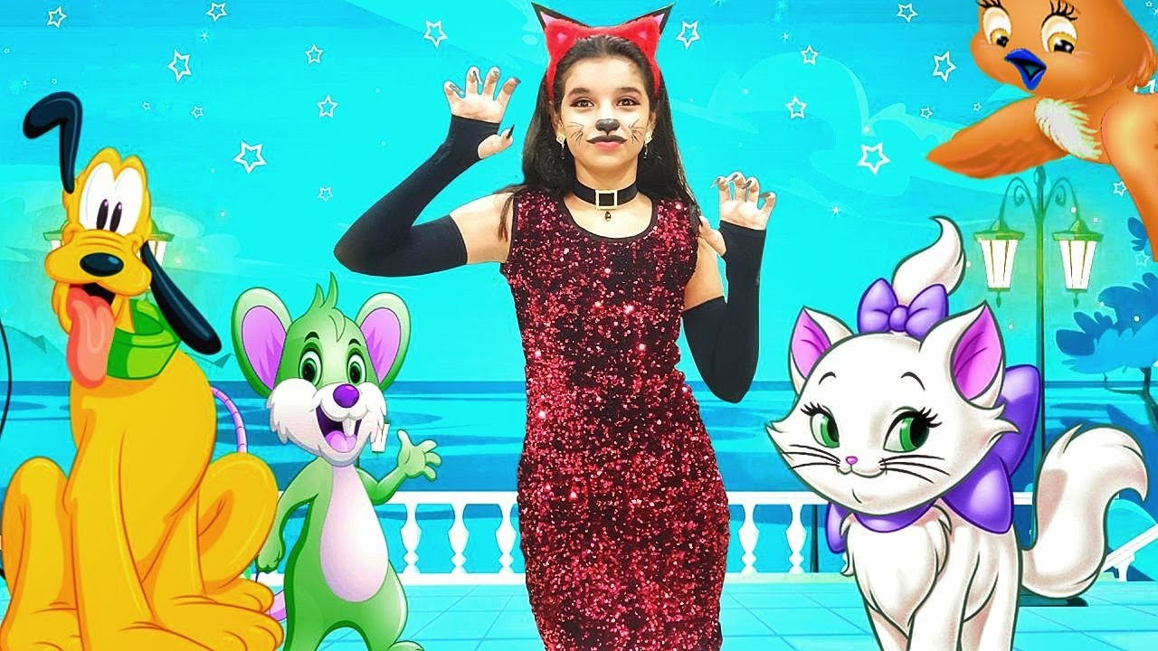 Meow Meow Billi Karti - म्याऊं म्याऊं - Billi Mausi - Meow Meow Song - Hindi Rhymes for children 🐱