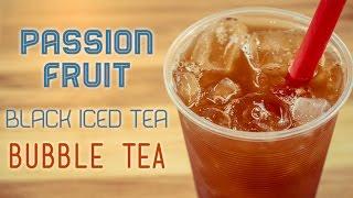 Passion Fruit Black Iced Tea Bubble Tea Recipe