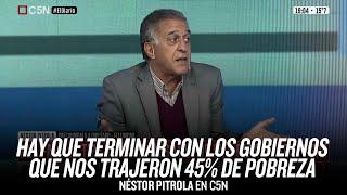 """""""Hay que terminar con los gobiernos que nos trajeron 45% de pobreza"""" // Néstor Pitrola"""