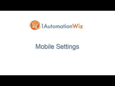 Mobile Shopping Cart Setup - Video 4: 1AutomationWiz