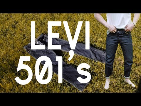 The Original Raw Denim Jeans: Levi 501 STF (Shrink To Fit)