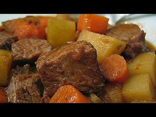 ?Carne de Panela com Batata e cenoura! Receita Simples
