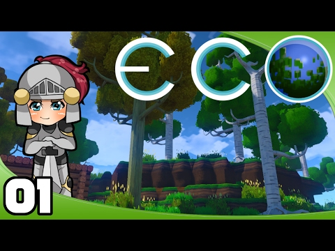 Let's Play Eco - Ep. 1: A Starter Shack | Eco GangZ Multiplayer Gameplay