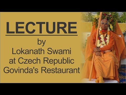 Lecture by Lokanath Swami at Czech Republic Govinda's Restaurant on 20th April 2016