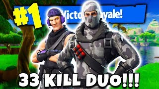 33 KILL DUO SQUADS VICTORY ROYALE! (Fortnite Battle Royale)