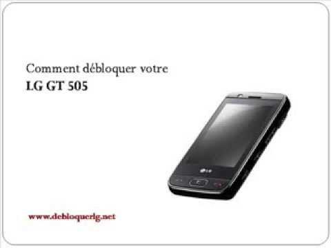 Comment Deblocage Telephone Portable LG GT505