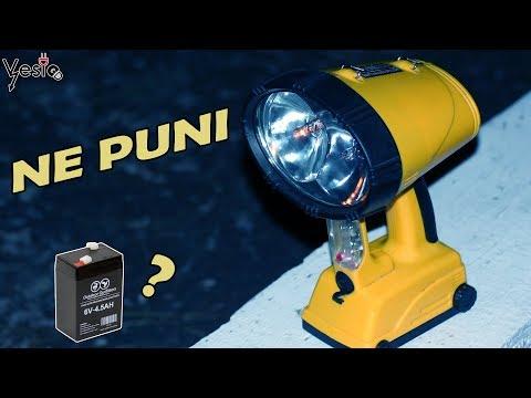 Kako popraviti baterijsku lampu ( ne puni )