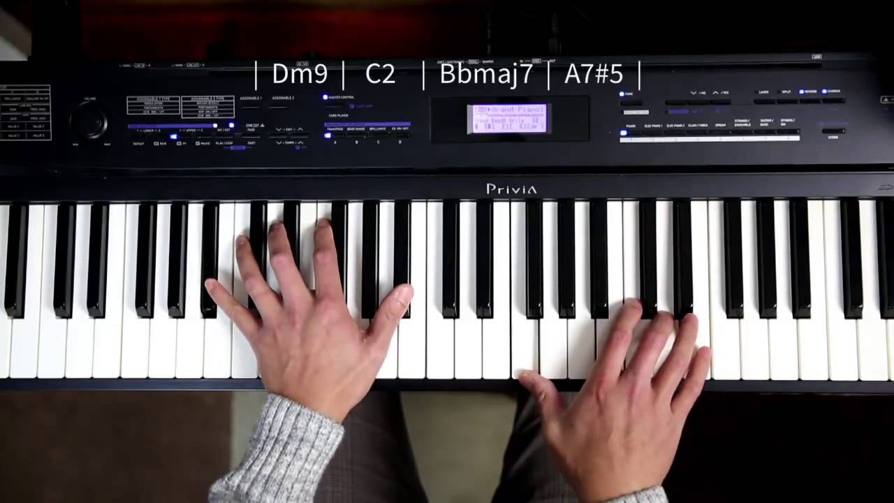 Loop 6 piano chord progression dm c bb a youtube hexwebz Image collections