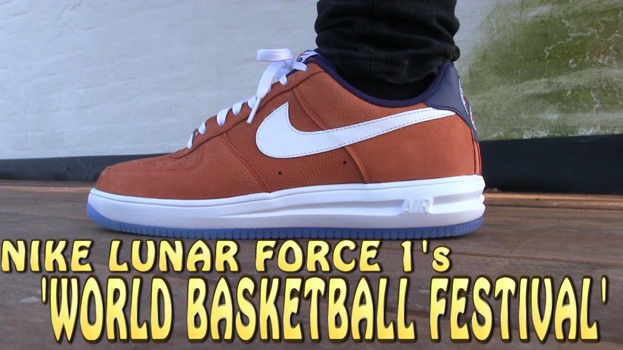 NIke Air Lunar Force 1  World Basketball Festival  - On Feet - YouTube 43447c42d730