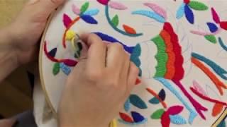 Cómo hacer bordado tenango