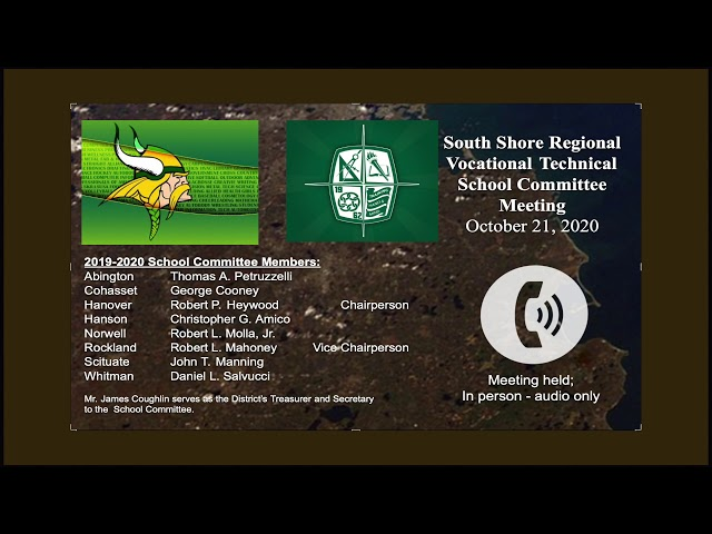 SSVT School Committee; Oct. 21, 2020