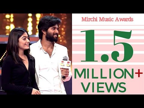Vijay Devarakonda and Karnataka Crush Rashmika Dance together @Mirchi Music Awards South 2017