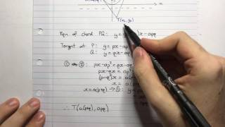 HSC Maths Ext1 - Parametrics - Chord of Contact