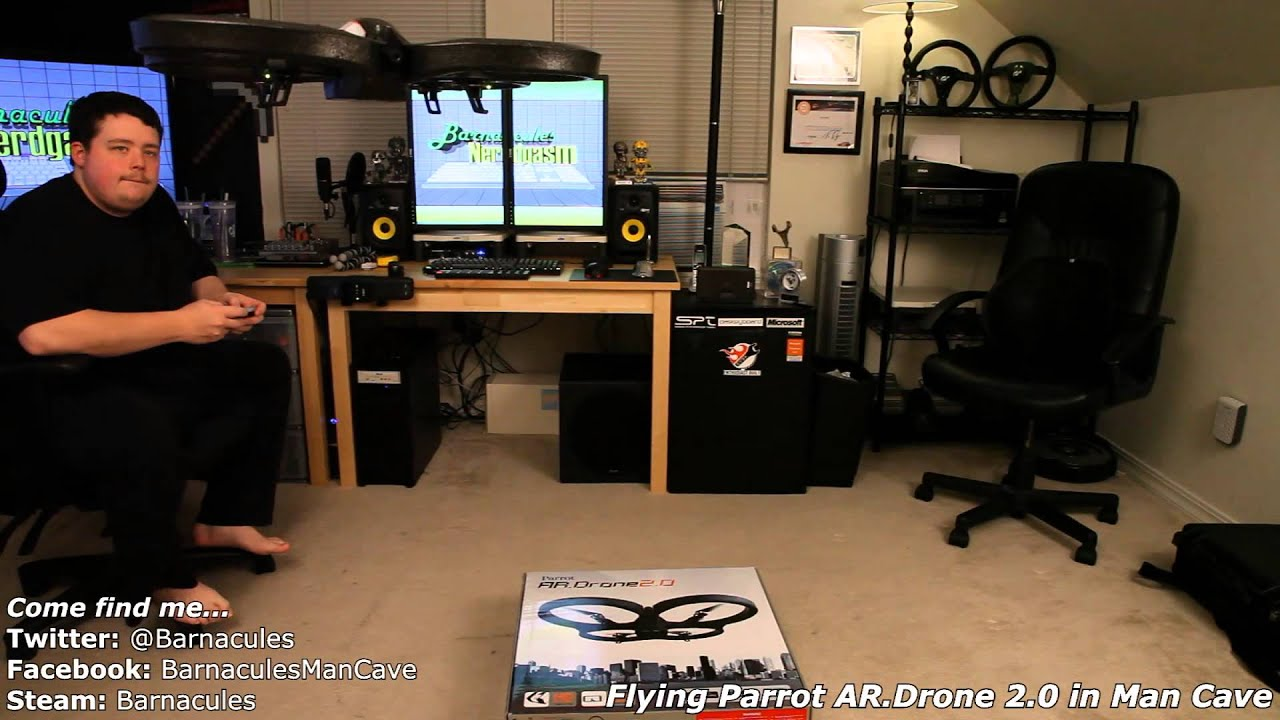 Flying Parrot Ar Drone 2 0 Uav Quadricoptor In Barnacules