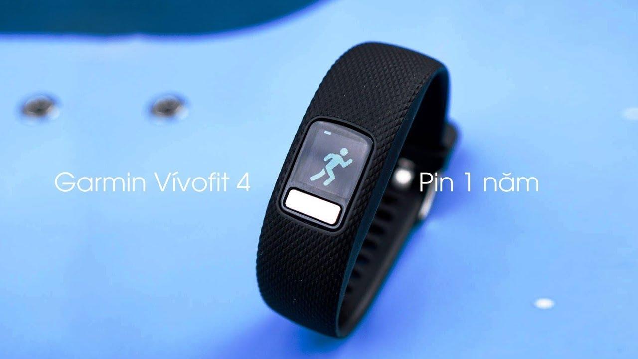 Garmin Vivofit 4: Vòng theo dõi sức khoẻ pin 1 năm