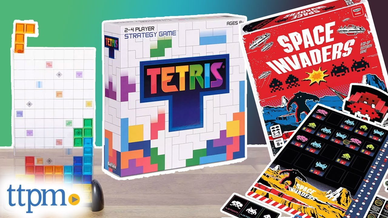Tetris Strategy Game and Space Invaders Board Game from Buffalo Games Instructions + Review!