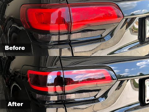 Tail Light Tint Kit Installation For 2014 + Jeep Grand Cherokee
