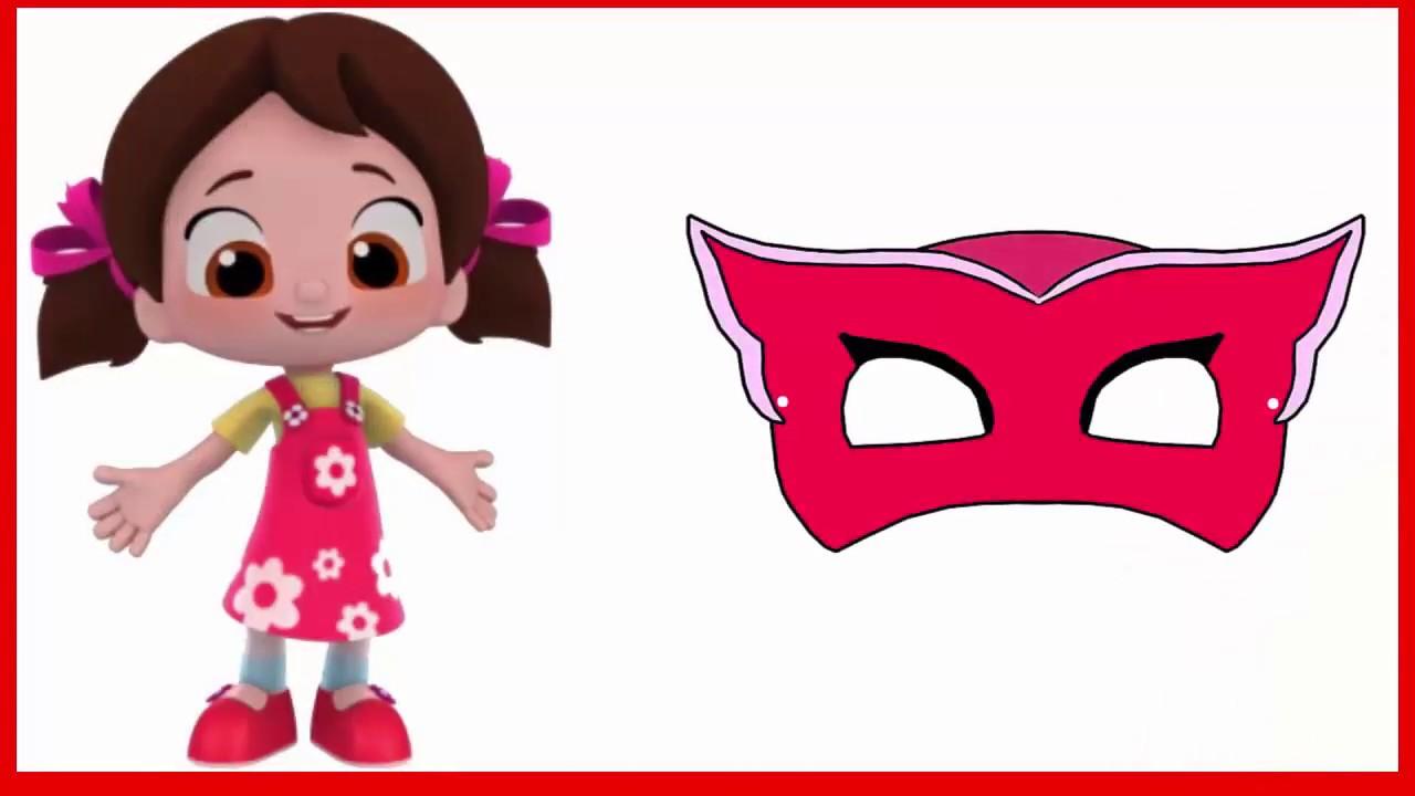 Niloya Pijamaskeliler Baykuş Kız Maskesi Boyama Youtube