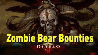 ♥ Diablo 3 - Witch Doctor Zombie Bear Bounties (Torment 1)