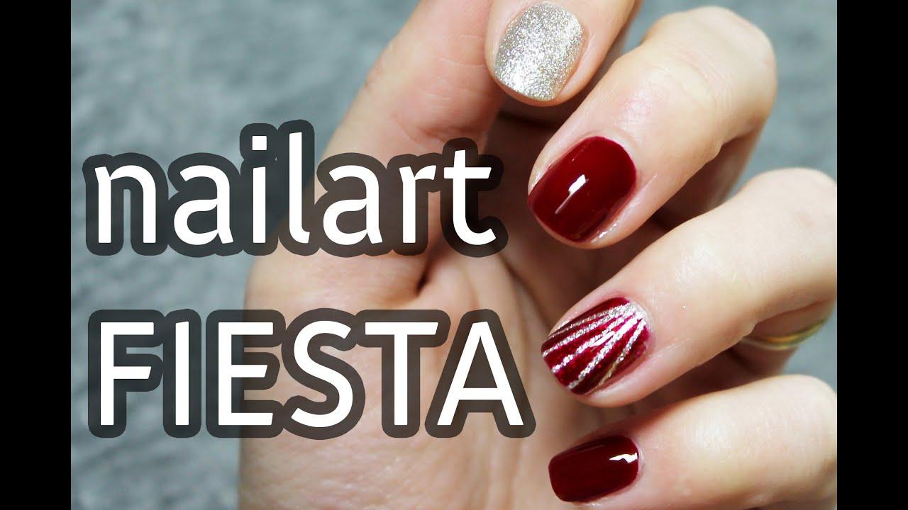 Diseno De Unas Facil Y Elegante Para Fiesta O Evento Nail Art En