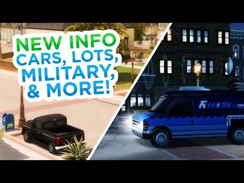 NEW INFO ON CARS, LOTS, MILITARY CAREER, LAPTOPS, & MORE! // The Sims 4: News & Info thumbnail