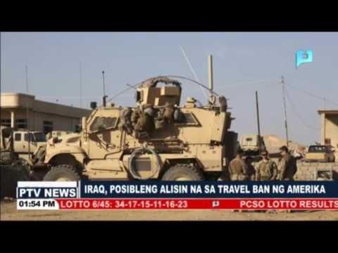 Iraq, posibleng alisin na sa Travel Ban ng Amerika
