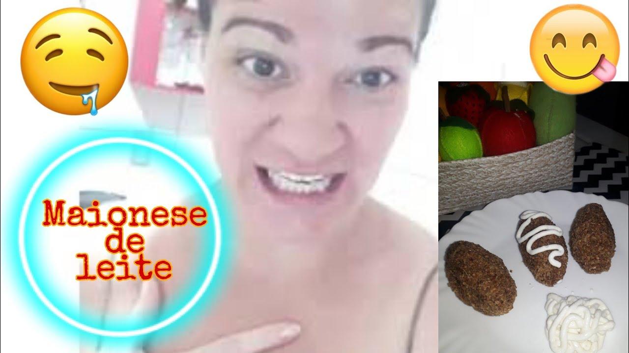 MAIONESE DE LEITE deliciosa e sem ovo
