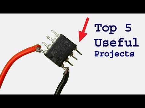 Top 5 useful electronics projects use ne555 timer ic, diy projects
